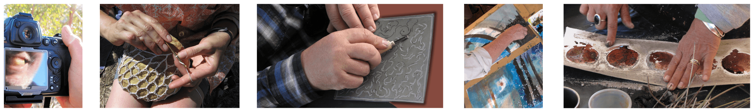 hands making art